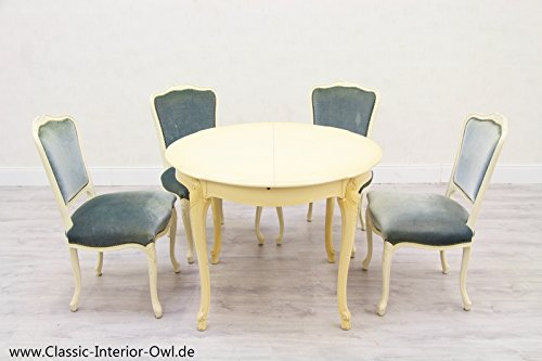 4 Stühle Esstisch Chippendale Antik Alt Tisch (Chippendale Stuhl)