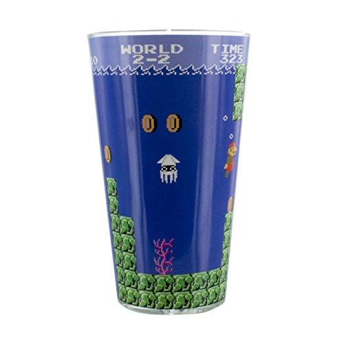 (Super Mario Bros Glas, mehrfarbig, 9x 9x 15cm)