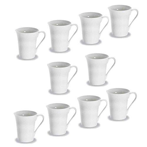 10er SET Becher TEMPO 300 ml/Maxwell & Williams/White Basics/Round/Tasse/Kaffeepott/Pott/Kaffeebecher/Teebecher