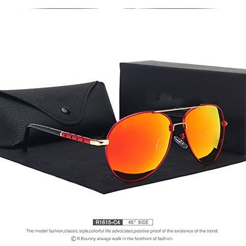 LKVNHP New Brand Fashion PolarisierteSonnenbrille MännerKlassische RetroBrille Farbe Polaroid LinsenFahrenFrauen Sonnenbrille R1615 C4 Box - C4 Box