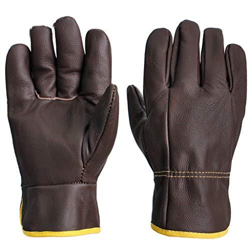 Voll-leder-fahrer-handschuhe (DFFFLF Fahrer voll Lederhandschuhe/Leder Schweißer Handschuhe/Abriebfeste Isolierung Schweißen spezielle Handschuhe)