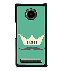 PrintVisa YUPHORIA-Dad Father Quotes Design Metal Back Cover for YU Yuphoria