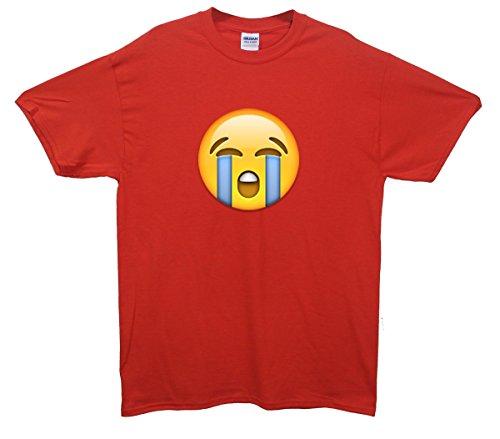 Loudly Crying Face Emoji T-Shirt Rot