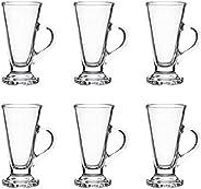 OCEAN Kenya Irish Coffee Mug, Pack Of 6, Clear, 230 ml, P01643