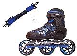 Slyk Sterling Adjustable Inline Skates 100 mm 3 - Polyurethane Speedy Wheels Tri-Skate