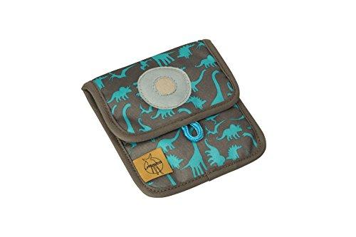 Lässig Mini Neck Pouch Brustbeutel Brusttasche Kleingeldtasche, Kordel mit Kindersicherung, Namensschild, Karabiner für Schlüssel