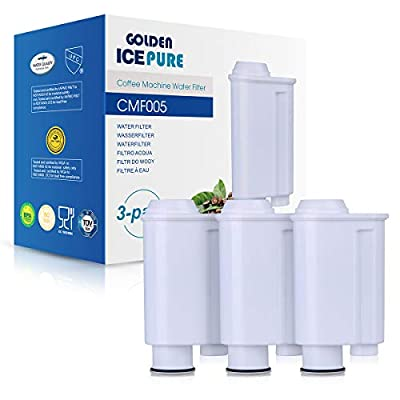 Coffee Machine Water Filter Compatible with Saeco Water Filter Philipps-Intenza Water Filter, Replacement for Saeco Phillips Intenza Lavazza Gaggia Saeco CA6702 / 00 3 Pack of GOLDEN ICEPURE