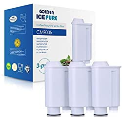cartouches filtrantes d'eau compatibles avec les machines à café saeco filtre brita Intenza, remplacement pour Saeco Phillips Intenza Lavazza Gaggia Saeco CA6702 / 00 3 Pack par GOLDEN ICEPURE