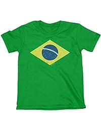 Niños O Niñas Camiseta Brazil Diamond Flag Copa Mundial 2018 Fútbol ...