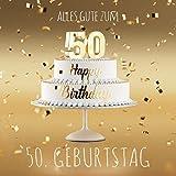 Alles Gute zum 50. Geburtstag: Gästebuch zum Eintragen mit 110 Seiten - Edition Gold