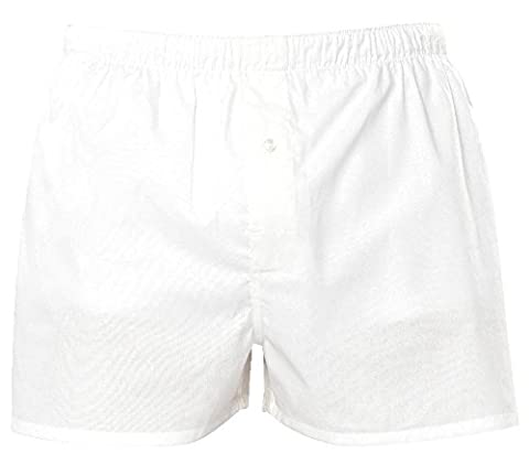 Mens Asquith & Fox Loose Cotton Classic Boxers AQ094 White Large