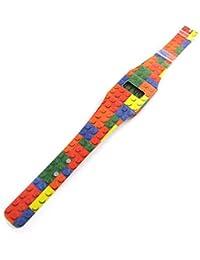 Reloj digital 'Pappwatch'multicolor ecológica (lego).