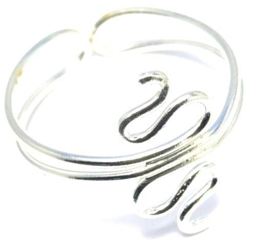 Anello di supporto alluce Bijoux India, anello in metallo regolabile, colore: argentato, regolabile, motivo: