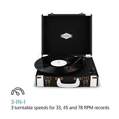 auna Jerry Lee Plattenspieler USB-Anschluss zum Digitalisieren schwarz - 3