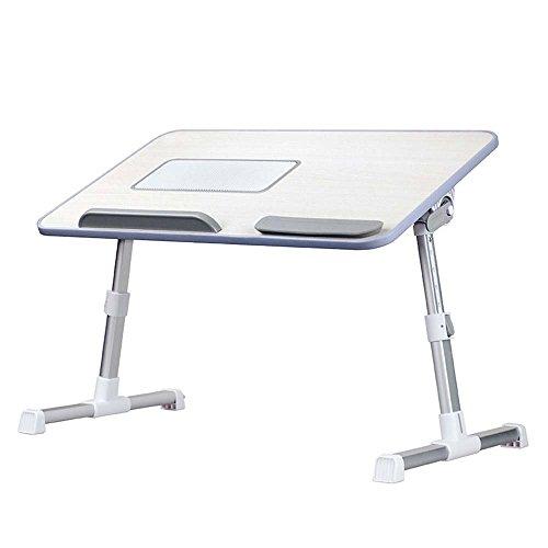 L Y Portable Laptop Runde Schreibtisch Faltbare Tabelle E-Table Bett mit USB-Lüfter Stehen TV Tray Lapdesks,A8