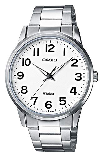 Casio Collection Herren Armbanduhr MTP-1303PD-7BVEF, Weiß