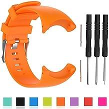 cyeeson Suunto Core All Black Watch Reemplazo Banda suave silicona correa de pulsera Smartwatch Pulsera Banda para Suunto Core All Black reloj, naranja