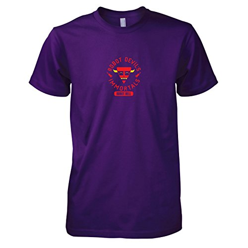 TEXLAB - Robot Hell - Herren T-Shirt, Größe XXL, violett