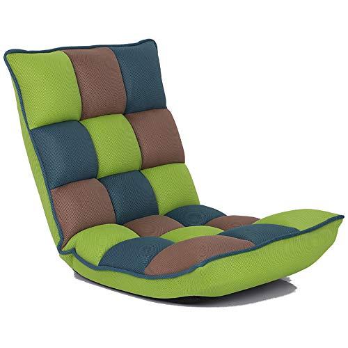 YYWDP Lazy Stuhl, Verstellbarer Stuhl mit Rückenlehne Erdgeschoss Faltbarer Stuhl Meditation Stuhl für Innen-Boden Erker Blick auf das Lesen das Spiel zu Spielen,A