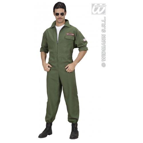 M Herren Fighter Jet Pilot Kostüm Outfit für Army Soldier Fancy Kleid Stecker UK (Fighter Kostüm Uk Pilot)