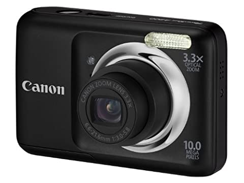 Canon PowerShot A800 Digital Camera - Black (10MP, 3.3x Optical Zoom) 2.5 inch LCD