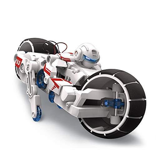Fjiujin,Juguete Bricolaje Agua Salada Motocicleta eléctrica...