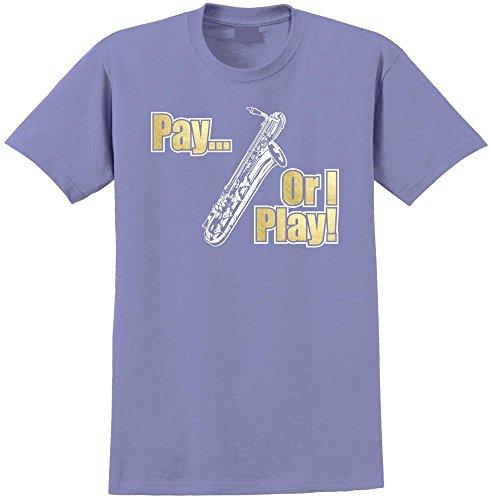 Saxophone Sax Baritone Pay or I Play - Violett T Shirt Größe 86cm 34in Lge 12-13 Jahr MusicaliTee (Kinder Für Saxophon Yamaha)