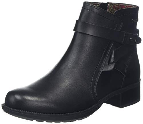 Rockport Copley Waterproof Strap Boot, Botines para Mujer, Negro Black 001, 39 EU