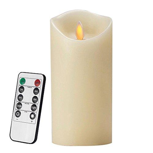 Air Zuker LED Kerzen Flammenlose 300 Stunden Kerzen Echtwachskerzen mit realistisch flackernde LED Flame mit C-Cell Batterie (Nicht enthalten),Höhe 18cm