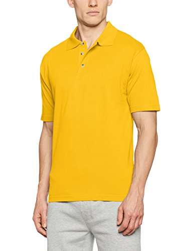 James & Nicholson Herren Poloshirt Polo-Piqué Medium, Gelb (Gold-Yellow), Large