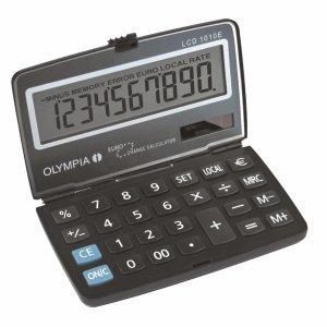 Olympia Taschenrechner LCD-1010 E 10-stellig Batterie/Solar-Betrieb schwarz