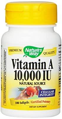 Natures Way Vitamin A, Softgel, 100Cap from Nature's Way