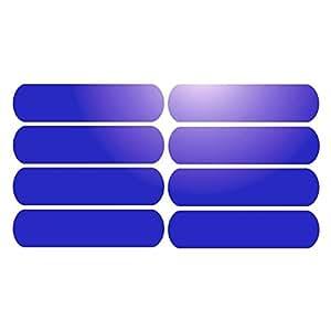 8 Bandes adhésives réfléchissantes pour signalisation sur casque 8x2 cm - Bleu Réfléchissant