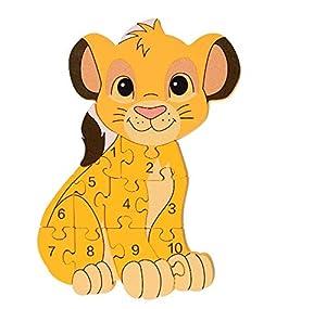 Orange Tree Toys Rompecabezas de Madera con número Simba de Disney Lion King