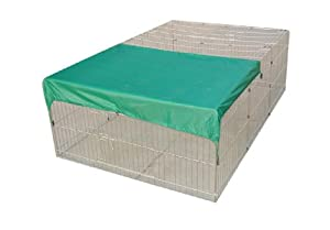 "85"" Rabbit Guinea Pig Dog Puppy Playpen With Net Cover Run Enclosure Pet Cage by temprence"
