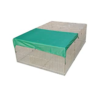 70″ RABBIT GUINEA PIG DOG PUPPY PLAYPEN WITH NET COVER RUN ENCLOSURE PET CAGE 410mVRXZYJL
