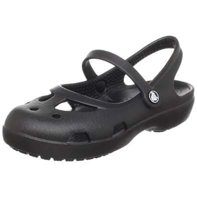 crocs Shayna Girls 11372, Mädchen, Clogs & Pantoletten, Schwarz (Black), 19-20 EU