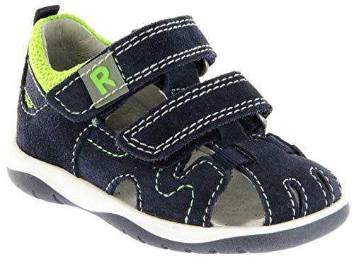 Richter Kinder Lauflerner-Sandalen blau Velourleder Jungen Schuhe 2603-543-7203 Atlantic Babel, Farbe:blau, Größe:28