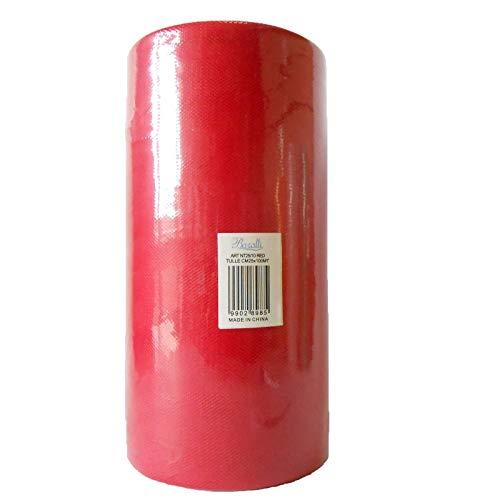 BARATTI Tulle 25,0 CM Bobina da 100 Metri, Rosso, 25 cm