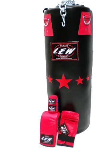 Protoner lew Boxig Punching Bag Synthetic leather with gloves & Chain