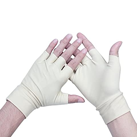 ewinever(R) 1pairs Arthritis Therapy Pain Relief Compression Gloves - Lightweight Washable Spandex