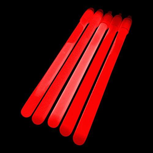 100x 15,2cm Glow Sticks/Glow Taktstöcke (1cm dick) also-PREMIUM Knicklichtern geliefert von glowtopia