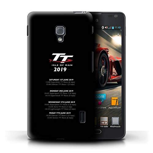 Isle of Man TT Offiziell Hülle/Case für LG Optimus F6 / TT Renntage 2019 Muster/TT Logo Kollektion (Handy F6 Case Lg)