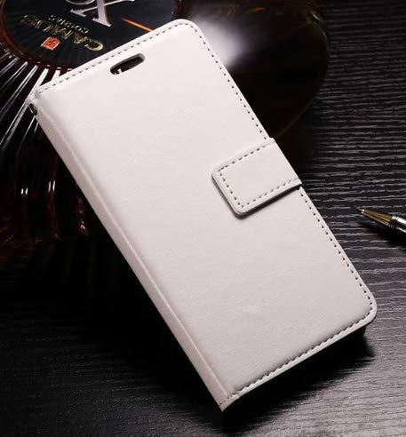 topgadgetsuk iPhone 8Case Slim book style wallet leder Flip Case Card Slots sicheren Magnetverschluss Lock Leder Fall für iPhone 8 weiß Flip Lock Wallet