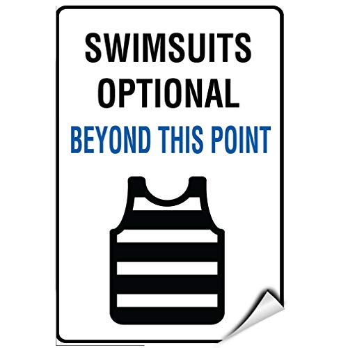Label Decal Sticker Swimsuits Optional Beyond This Point Activity Sign Durability Self Adhesive Decal Uv Protected & Weatherproof - Optional Decals