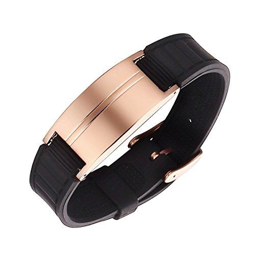 d6fee69edcba De acero inoxidable magnético Moocare Unisex para poder de brazalete de la  pulsera con la caja