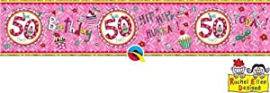 Rachel Ellen- Pancarta de fiesta, Color rosa (25108)