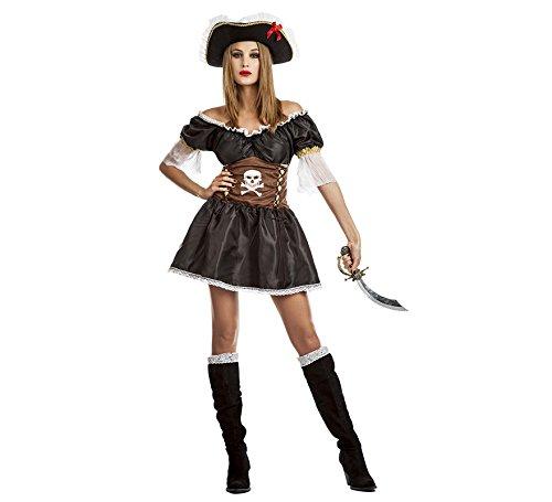 Imagen de disfraz de pirata negra para mujer