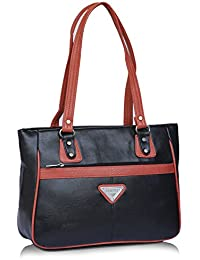 Fantosy Black And Peach Women Shoulder Bag (black And Peach) (FNb-772)
