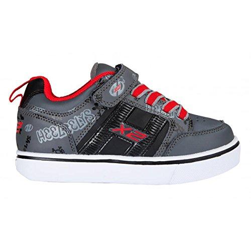Heelys Bolt, Sneakers Basses Mixte Enfant Black grey red